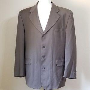 Oleg Cassini Jacket Blazer Suit Coat Sz 44R Brown